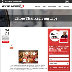 Three Thanksgiving Tips - DM athletics