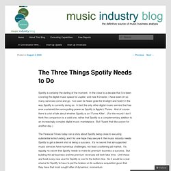 The Three Things Spotify Needs to Do