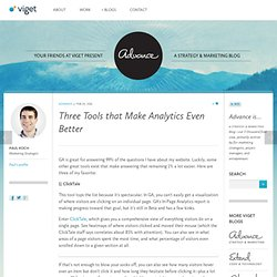 Three Tools that Make Analytics Even Better
