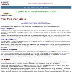 Three Type of Arrogance