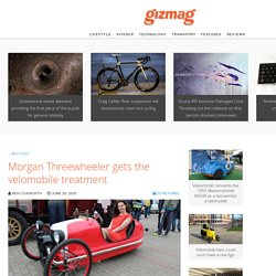 Morgan Threewheeler gets the velomobile treatment - Images