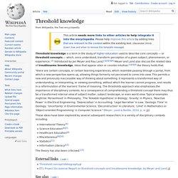 Threshold knowledge