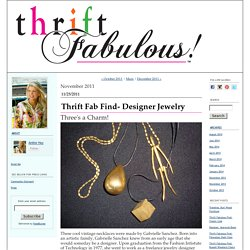 Thrift Fabulous: November 2011