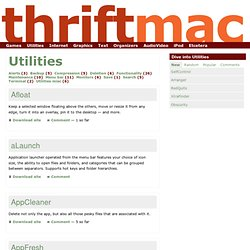 Utilities |free Mac software, Mac freeware, free Mac gamesInternet