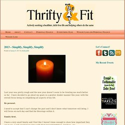 Thrifty and Fit | Actively seeking a healthier, debt-free life and helping others do the same