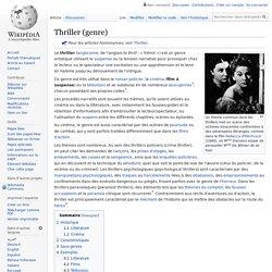 Thriller (genre)