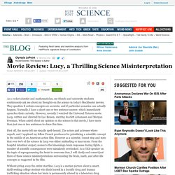 Movie Review: Lucy, a Thrilling Science Misinterpretation