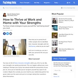 How to Thrive at Work and Home with Your Strengths