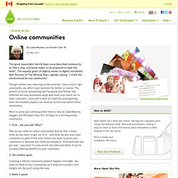 10 steps to a thriving online community