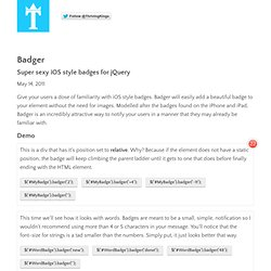 Badger - Super sexy iOS style badges for jQuery