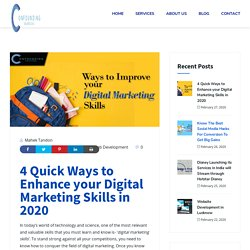 Cut-Throat Top 4 Digital Marketing Skills in 2020 that you can't ignore