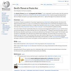 Devil's Throat at Punta Sur