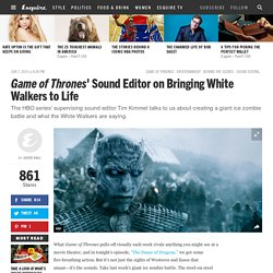 'Game of Thrones' Sound Editor - Tim Kimmel Interview