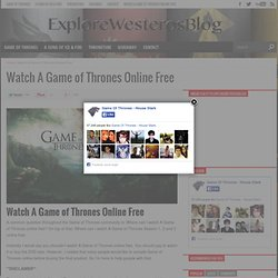how can i watch game of thrones free