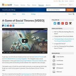 A Game of Social Thrones [VIDEO]