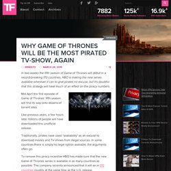 Why Game Of Thrones Will Be The Most Pirated TV-Show, Again
