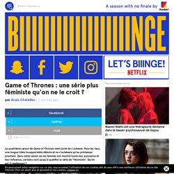 Game of Thrones : une série plus féministe qu'on ne le croit ?