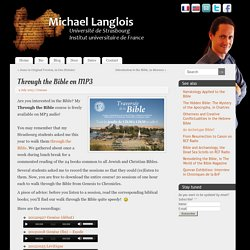 Through the Bible on MP3 - Michael Langlois