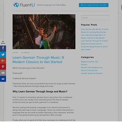 Learn German through Music: 8 Modern Classics to Get Started
