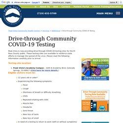 Drive-through Community COVID-19 Testing