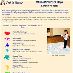 Walk through the Continents - Print Maps Large and Small - Free