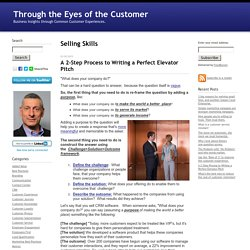 Through the Eyes of the Customer: Selling Skills