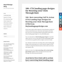 Click through rate landing page designs to boost yours sales