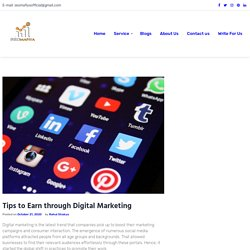 Tips to Earn through Digital Marketing