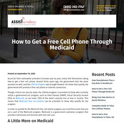 How to Get a Free Cell Phone Through Medicaid