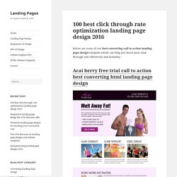 100 best click through rate optimization landing page design 2016
