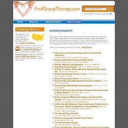 Group Therapy Directory Site: Find Group Therapy Listings Throug