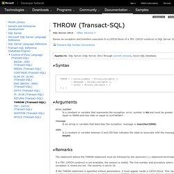 THROW (Transact-SQL)