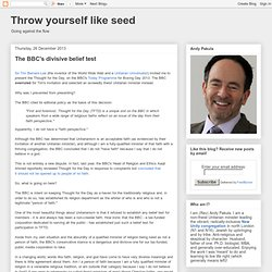 Throw yourself like seed
