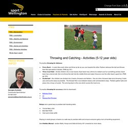 FMS - Throwing and Catching (5-12 year olds) » Sport Wellington