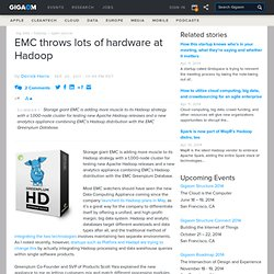 EMC throws lots of hardware at Hadoop — Cloud Computing News