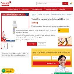 Thuốc bôi trị mụn Lưu huỳnh 5% Nam Việt Chai 60ml - Nhà thuốc VIVITA