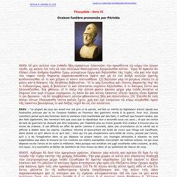 Thucydide : oraison funèbre prononée par Périclès