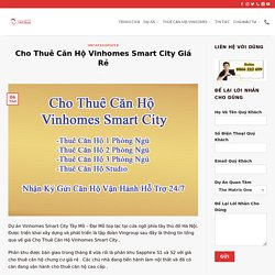 Thuê Căn Hộ Vinhomes Smart City Giá Rẻ [ Chính Chủ #1 ]