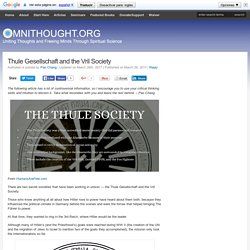 Thule Gesellschaft and the Vril Society