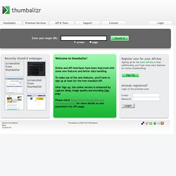 thumbalizr - thumb your webpages