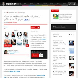How to make a thumbnail photo gallery in Blogger - New York Technology