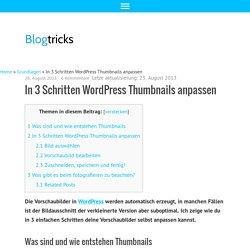 In 3 Schritten Wordpress Thumbnails anpassen - blogtricks.de
