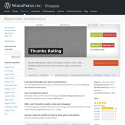 Thumbs Rating — WordPress Plugins