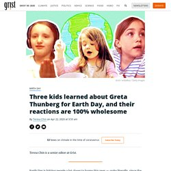 Three kids learned about Greta Thunberg for Earth Day, and their reactions are 100% wholesome