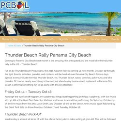 Thunder Beach Rally Panama City Beach Florida 2016