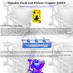 Thunder, Flush and Thomas Crapper: INDEX-