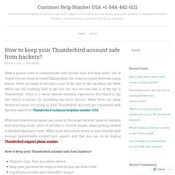 How to keep your Thunderbird account safe from hackers?