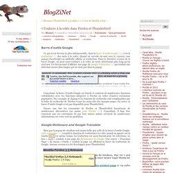 Traduire à la volée dans Firefox et Thunderbird - extensions pour les applications de Mozilla