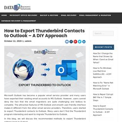 How to Export Thunderbird Contacts to Outlook - A DIY Approach
