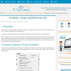 Thunderbird : changer l'emplacement des mails